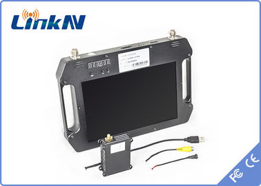 Military Handheld COFDM Video Receiver 10.1 Inch LCD Screen Dual Antenna Diversity Reception