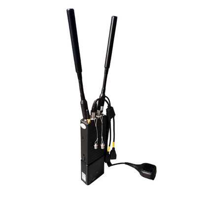 Tactical IP MESH Radio Video Voice Intercom 4W Power Output AES256 80Mbps 350MHz-4GHz Customizable